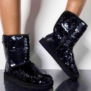 Ugg black sequin standard size boot